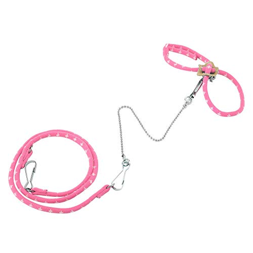 GLOGLOW Hamster Pet Small Rat Maustraining Einstellbare Soft Harness Lead Leash Pull gehender Finder Bell(Pink) Finder Bell