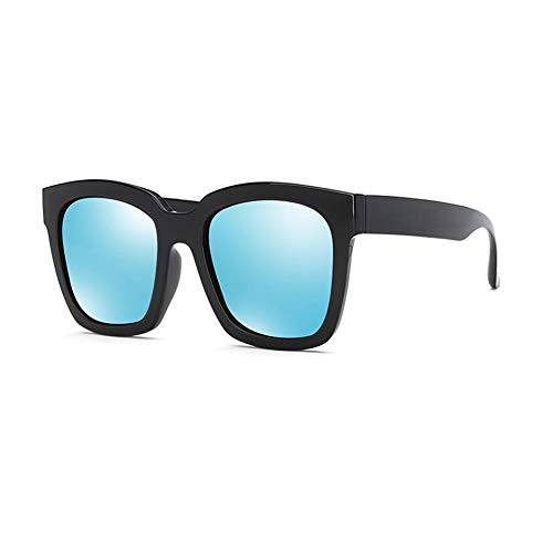 JFFFFWI Polarisierte Sonnenbrille Retro Sonnenbrille Wayfarer Outdoor Sports (Farbe: Blau)