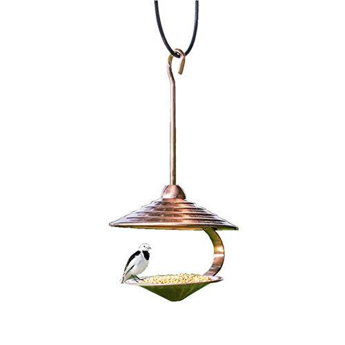BABYS'q Garden Hanging Wild Bird Feeder, Automatischer Vogelfutterautomat, Papageienfutterbehälter Mit Integriertem Saatgut, Vogelzubehör