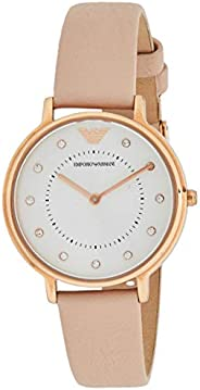 Emporio Armani Women's Silver Dial Leather Analog Watch - AR2510,