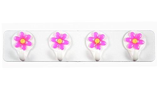 Extra Stärke Selbstklebend Handtuchhaken Küche Handtuchhalter Wandhaken Kunststoff (Pink)