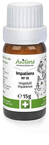AniForte Impatiens Globuli für Hunde, Katzen, Haustiere - Bachblüten zur Beruhigung bei hektischem, ungeduldigem und aggressivem Verhalten