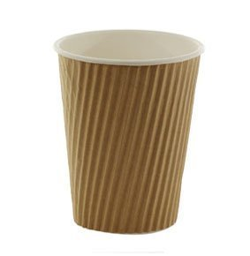 100-X-12oz-360ml-Kraft-triple-walled-disposable-paper-ripple-cups