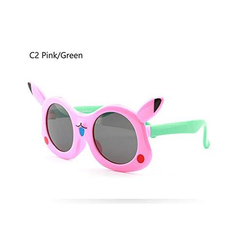 Wang-RX Kindersonnenbrille polarisierte reizende Karikatur-Kinderbrille TR90 flexible Sicherheits-Rahmen-Schatten für Jungen-Mädchen UV400