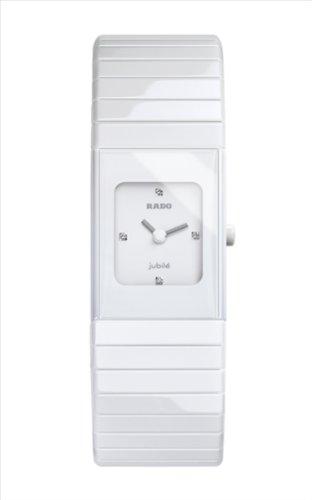 Rado 963.0712.3.070 - Reloj para mujeres, correa de cerámica color blanco