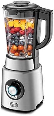 Black+Decker 1200W 1.7L High Power Premium Blender with Glass Jar, Black/Silver - PB120-B5, 2 Years Warranty