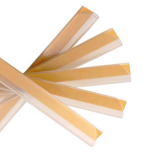 Klemmschienen selbstklebend   Transparent   DIN A4   3-4 mm Füllhöhe   10 oder 100 Stück   Klemmschiene zur Nachrüstung von Mappen und Ordnern / 10 Stück