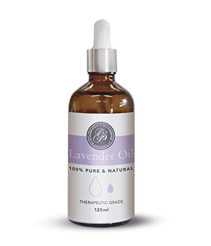 Olio di lavanda 118ml (4oz) - GRANDE - Ottimo per massaggi, bagno, aromaterapia, cura della pelle, profumi per la casa, relax e miglioramento del sonno - Grado terapeutico