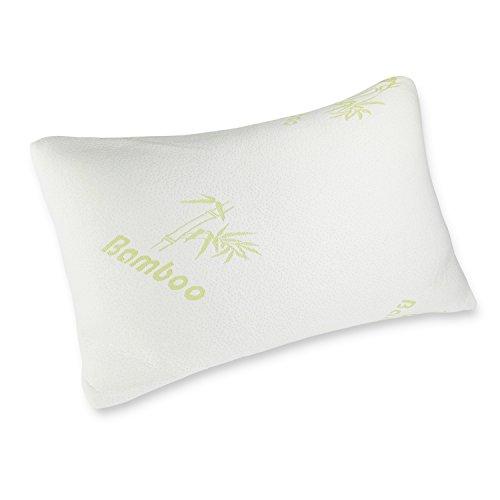Caravalli Bambus Memory-Schaum Kissen, Bristol Hotel Collection, bestes Bett-Kissen, kühlend hypoallergen, mit Aloe Vera, kühles weißes Kissen Queen weiß -