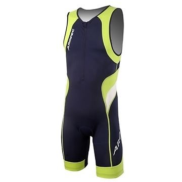 Aropec Lime - Lycra sports suit for men (with UV 50 + FPS, for running, triathlon, swimming, cycling, size XXL)