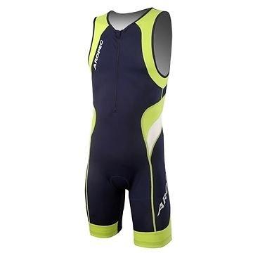 Aropec Lime - Lycra sportkleding voor heren (met UV 50 + FPS, voor hardlopen, triatlon, zwemmen, fietsen, maat XXL)