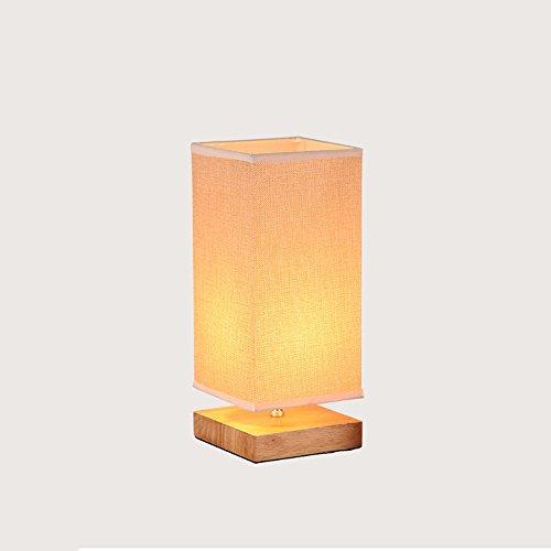 Orientalische Porzellan Lampe (KMYX Moderne Tuch Lampe Schlafzimmer Nachttischlampe Studie Lesen Holztisch Lampe Für Büro Schlafsaal Schreibtisch Lichter E27 Sockel AC 110-240 V)