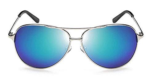 Tclothing Herren Klassische Piloten polarisierte Sonnenbrille mit Metallrahmen Farbe Objektiv Einheitsgröße Silber