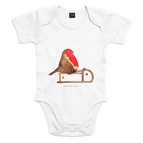 Mr. & Mrs. Panda Bodysuit, Baby, 3-6 Monate Baby Body Rotkehlchen Schlitten - Farbe Transparent