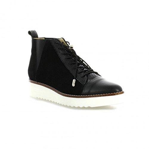 Vidi studio boots cuir velours noir Noir