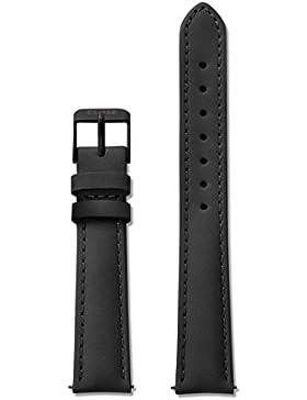 Cluse Damen Armbanduhr Zubehör Lederbänder Leder Minuit Strap Full Black schwarz CLS340