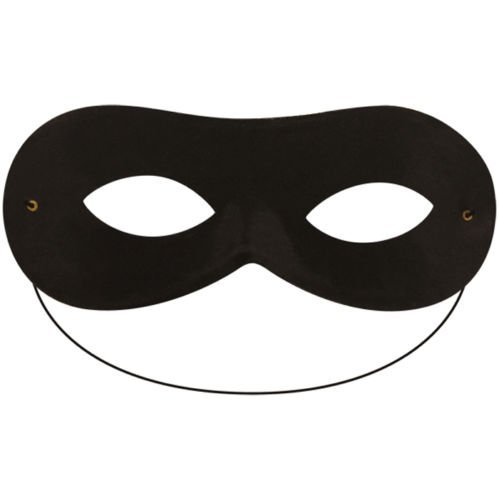Bandit Kostüm Black - Robber Bandit Superhero Domino Eye Mask (Black) by FNA Fashions