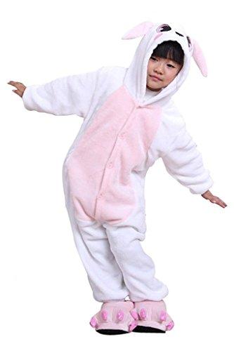 Auspicious beginning Rosa Coniglio bambini costume cosplay pigiami Animalei Tutina Abbigliamento da casa Kigurumi Pigiama