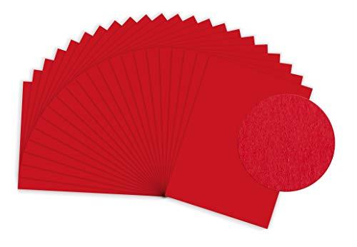 SUMICO Tonzeichenpapier 130g/qm, 50x70 cm, 100 St. pro Packung, hochrot, Tonpapier zum Malen und Basteln, z.B. von Dankeskarten, für Weihnachtsschmuck, u.v.m. (Aus Halloween-basteln Tonpapier)