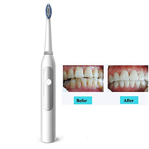 Maple Leaf Elektrische Zahnbürste Schallwelle Zur Entfernung Von Zahnflecken, Automatische Zahnbürste Faul 5 Modi Geeignet Für Erwachsene Und Jugendliche,White