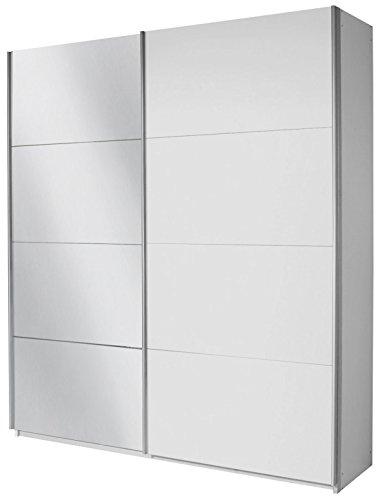 Rauch Schwebetürenschrank mit Spiegel 2-türig, Weiß Alpin, BxHxT 270x230x62 cm