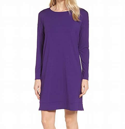 Eileen Fisher Deep Womens Scoop Neck Shift Dress Purple XS Scoop Neck Shift Dress