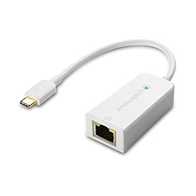 Cable Matters USB 3.1 Type C (USB-C & Thunderbolt 3 Port Compatible) to RJ45 Gigabit Ethernet LAN Network Adapter in White from Cable Matters
