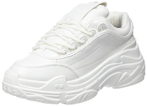 COOLWAY Shila, Zapatillas Altas Mujer, Blanco Wht