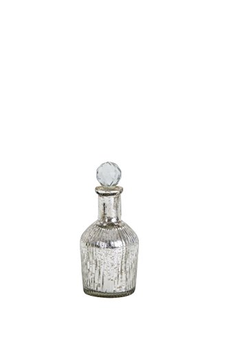 Sammsara Trinity Table Top Silver Small Glass Decorative Bottle For Table,living Room,office,Interior.Glass Christmas Decorations Bottles(8 Inches)