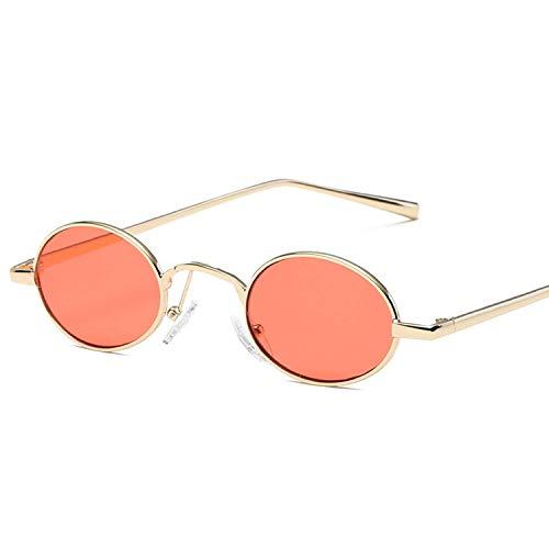 YSA Klassische Sonnenbrille Sport Sonnenbrille Retro Kleine Ovale Sonnenbrille für Frauen Unisex Metallrahmen Vintage Designer Gläser Sonnenbrille UV400