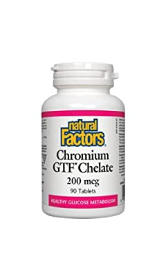 Natural Factors Chromium GTF Chelate (200mg, 90 Tablets) by Natural Factors