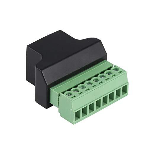 WOSOSYEYO Ethernet-RJ45-Buchse zum Anschrauben des 8-poligen CCTV-Digital-DVR-Adaptersteckers Robustes Design für zuverlässige Verbindungen Screw Terminal Panel