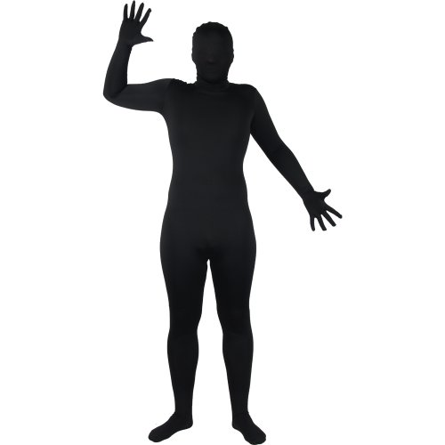 Suits Mens Verrückt (Wicked Skinz Verrückte All Over Lycra Spandex Skin Suit schwarz, passend für bis zu 6 '2)