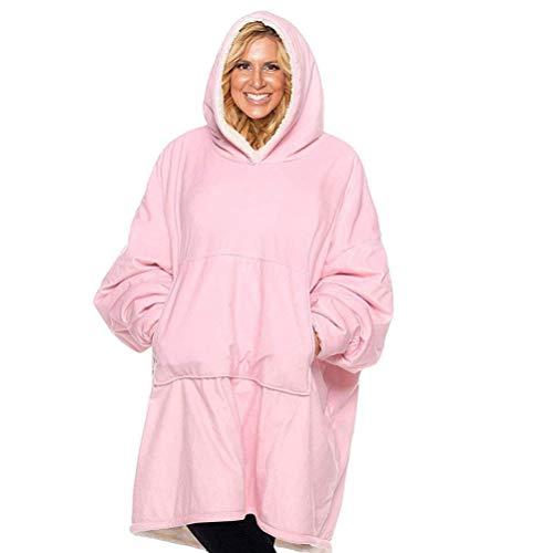 Huggle Hoodie Oversized Hoodie Sweatshirt Blanket Soft Warm Comfortable Blanket Hoodie One Size Fits All Women, Girls