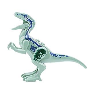 VWH DIY Jurassic World Dinosaurier Figuren Gebäude Montieren Blöcke Klassische Mit Legoings Kinder Spielzeug (Blau, Bandit Drachen)