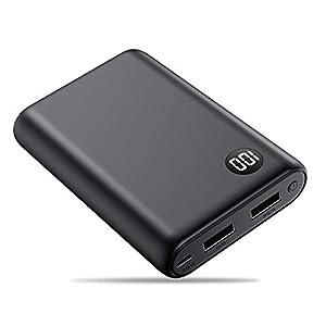 kilponen Batería Externa 13800mAh Power Bank Cargador Móvil Portátil Ultra Compacto 2 Salidas USB con Ultra Alta Capacidad para Huawei,Xiaomi Smartphones/Tablets Android y Más (Blanco)
