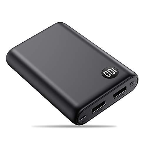 Kilponen Batterie Externe Petite 13800mAh Power Bank Ultra Compacte 2 Ports USB Sortie Ecran LCD Batterie de Secours Haute Vitesse Chargeur Portable Compatible avec Android/iOS Smartphones/Tablettes