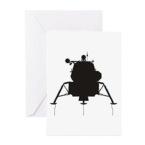 CafePress - Lunar Module - Grußkarte, Notizkarte, Geburtstagskarte, Innenseite blanko, matt