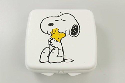 TUPPERWARE To Go Sandwich-Box weiss Snoopy mit Vogel Schule Pausenbrotbehälter Dose