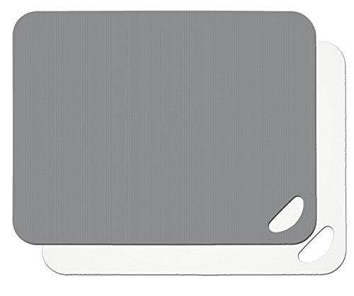 Lurch Flexi-Schneidbretter 2er Set, Kunststoff, Flint Grey/weiß, 29 x 38 x 4 cm