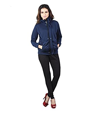 Navy Blue Winter Zippered for Women by Bfly