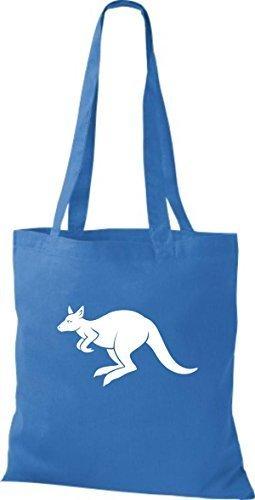 shirtstown Borsa di stoffa ANIMALE CANGURO Roo Blu reale