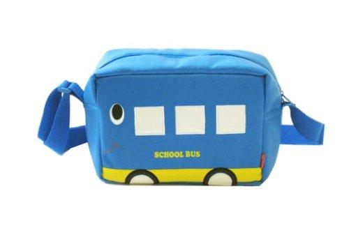 Borsa Unisex Bambino Borsa A Tracalla Impermeabile Pelle Vernice Carina Borsetta Autobus blu