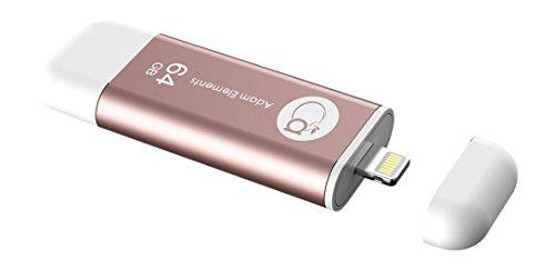 Adam Elements ADRAD64GKLPRG Hard disk esterno, per Apple iPhone, iPad, Mac, colore: oro rosa