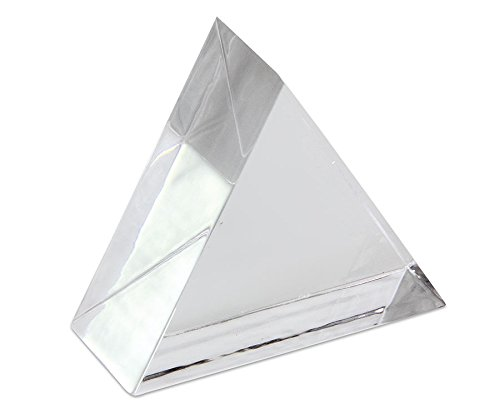 Unbekannt Physik-Lehrmittel Glas-Prisma - Optik-Experimente Lichtbrechung - reines Glas - hochpräziser Schliff - 32 mm Kantenlänge