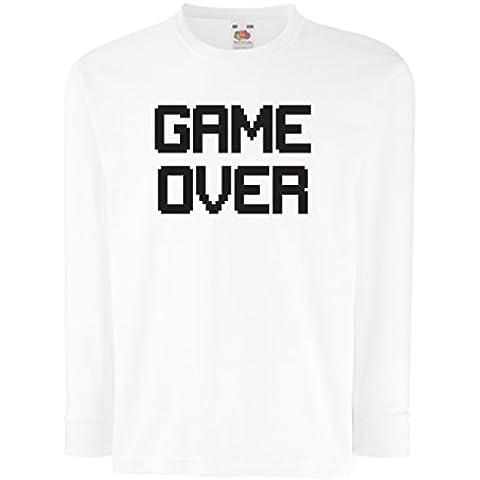 Bambini t-shirt con maniche lunghe Game Over regali gamer divertenti - 10 Trofeo Coppa