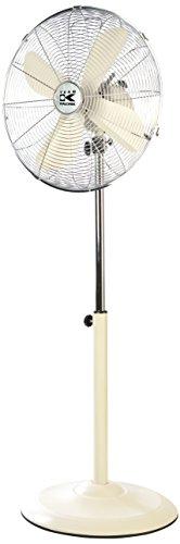 TKG 40 cm Retro-Metallstandventilator, oszillierend, 50 W, 3 Geschwindigkeitsstufen, Höhenverstellbar bis circa 130 cm, 1 Stück, creme, VT 1020