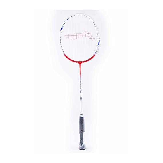 Li-Ning XP-809 Badminton Racquet (Strung), Grip Size S2, (Red/White)