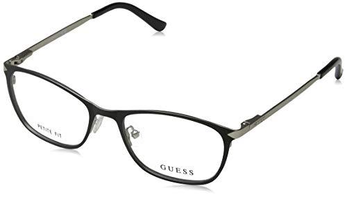 Guess Unisex-Erwachsene GU2587 002 50 Brillengestelle, Schwarz (Nero Opaco),