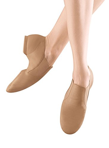 Bloch Dance Girl's Elasta Bootie Jazz Shoe, Tan, 10.5 M US (Toddler/Youth)